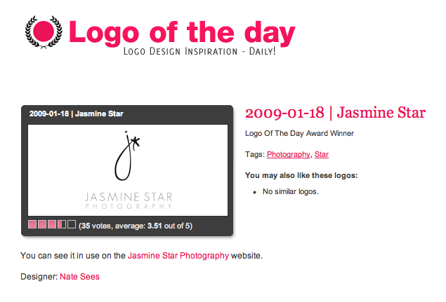 logo of the day jasmine star