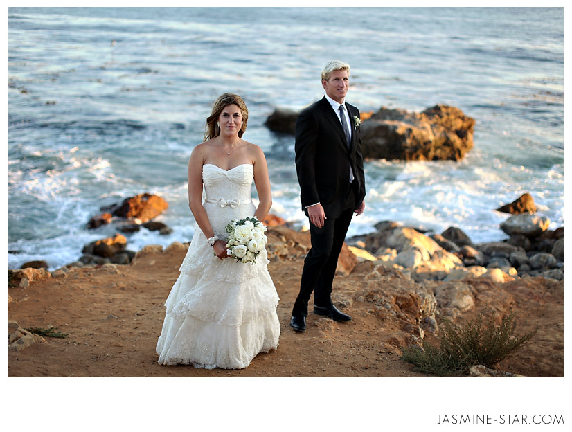 after the ceremony we took ten minutes to capture more wedding photos along the beach of the terranea resortand the sunset light was just perfect