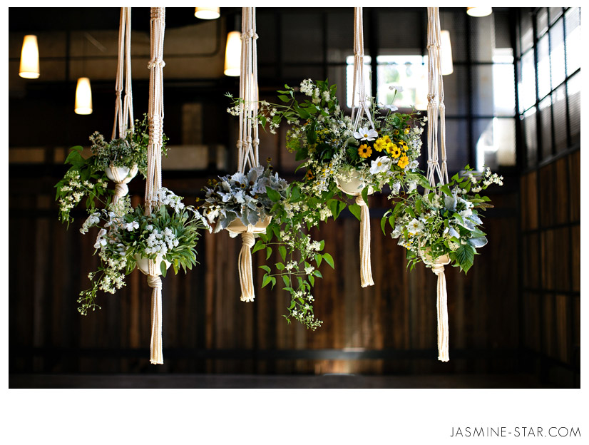 Hanging Flower Baskets Seattle : Jasmine star seattle eco friendly organic wedding