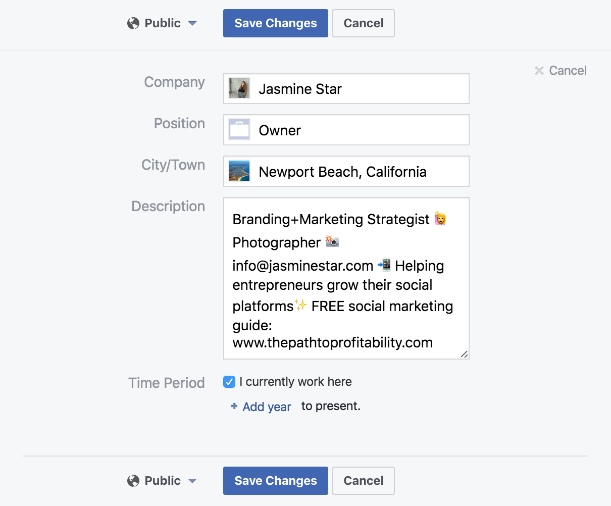 how to add a link to your facebook business page