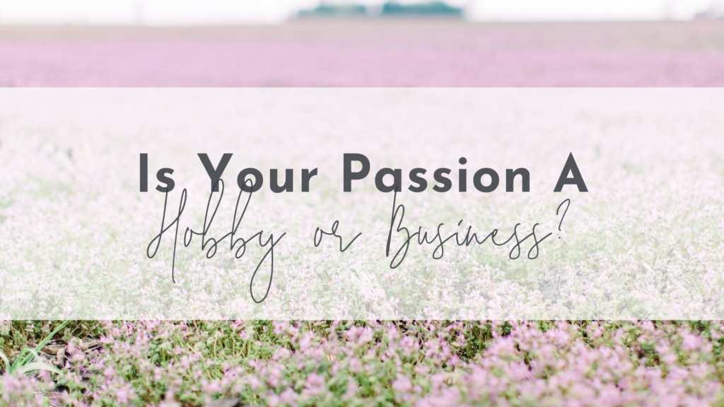 Is Your Passion a Hobby or Business?