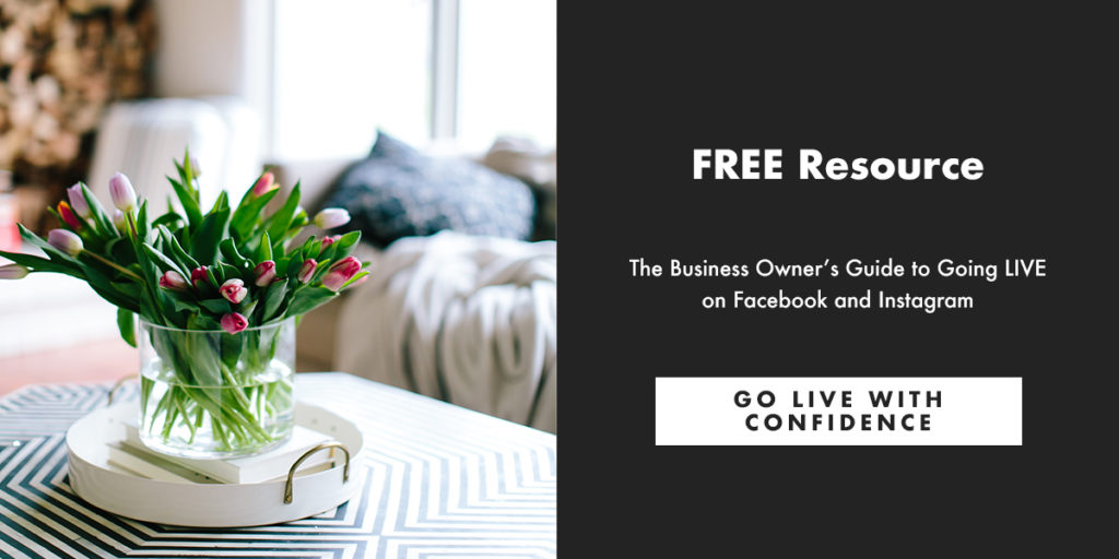 Free Resource: The Business Owner's Guide to Going Live on Facebook and Instagram.