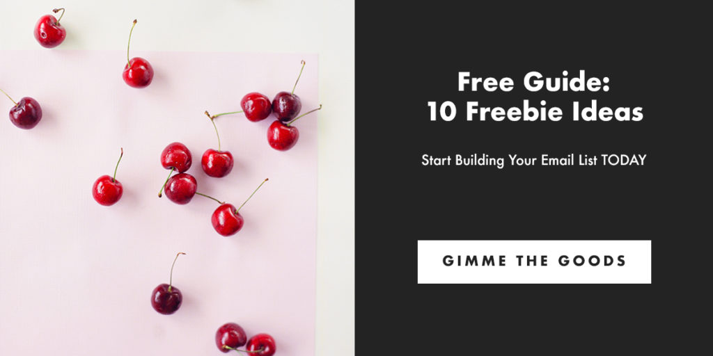 Free Guide: 10 Freebie Ideas. Start Building Your Email List TODAY