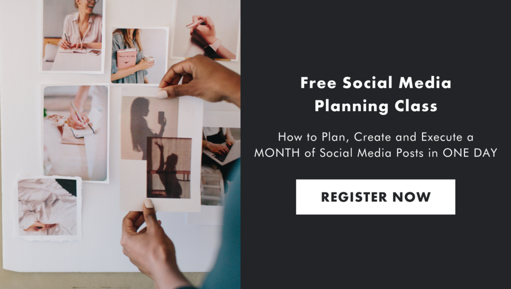 Free Social Media Planning Class: How to plan, Create, and Execute a month of social media posts in one day